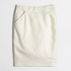 J. Crew Factory Pencil Skirt, Double Serge Cotton